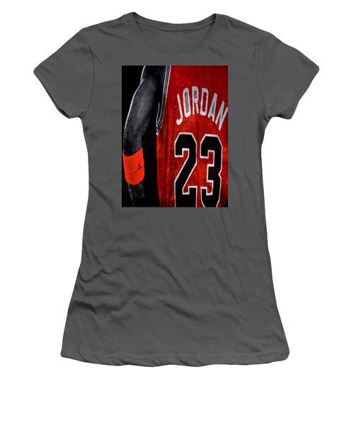 Women's T-Shirt (Junior Cut) featuring the digital art Red Wrist Band by Brian Reaves