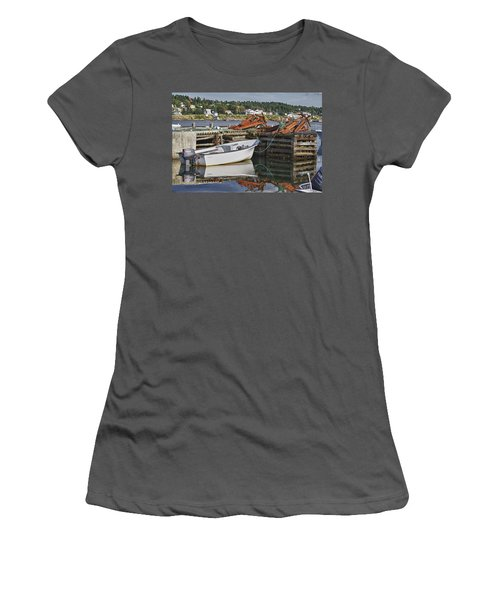 Women's T-Shirt (Junior Cut) featuring the photograph Reflections by Eunice Gibb