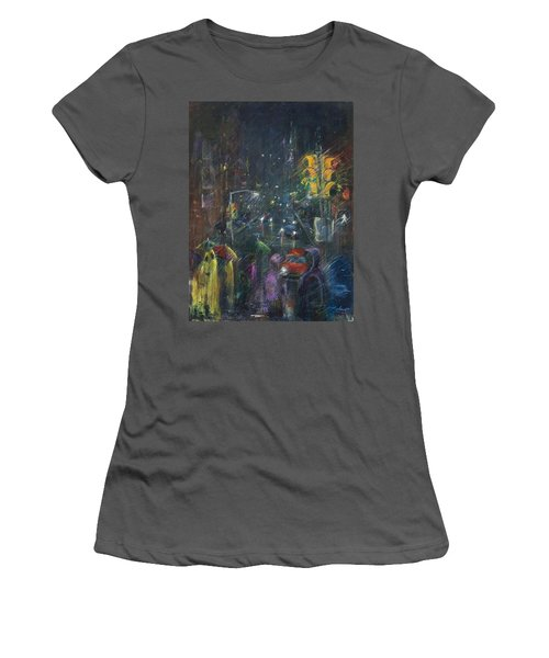 Reflections Of A Rainy Night Women's T-Shirt (Junior Cut) by Leela Payne