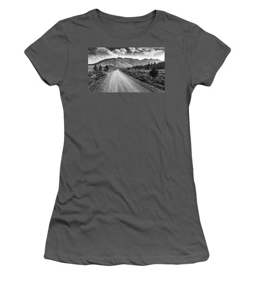 Riding To The Mountains Women's T-Shirt (Athletic Fit)
