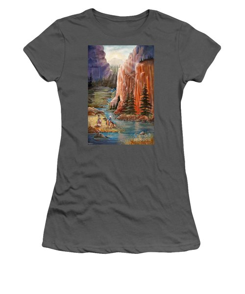 Rim Canyon Ride Women's T-Shirt (Athletic Fit)