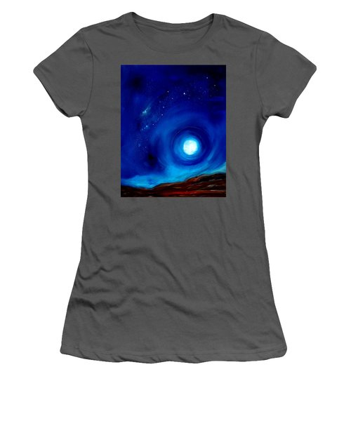 Rising Desert Moon Women's T-Shirt (Athletic Fit)