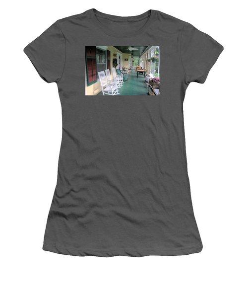 Rockers On The Porch Women's T-Shirt (Junior Cut) by Gordon Elwell