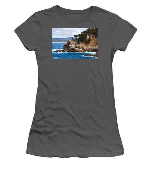 Rocky Outcropping At Point Lobos Women's T-Shirt (Athletic Fit)