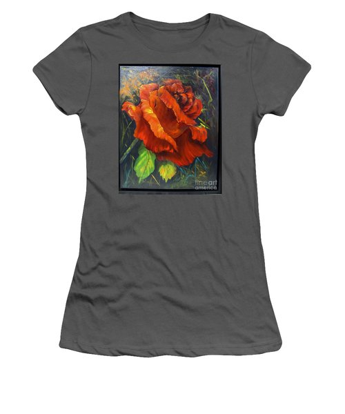 Rose Red Women's T-Shirt (Athletic Fit)