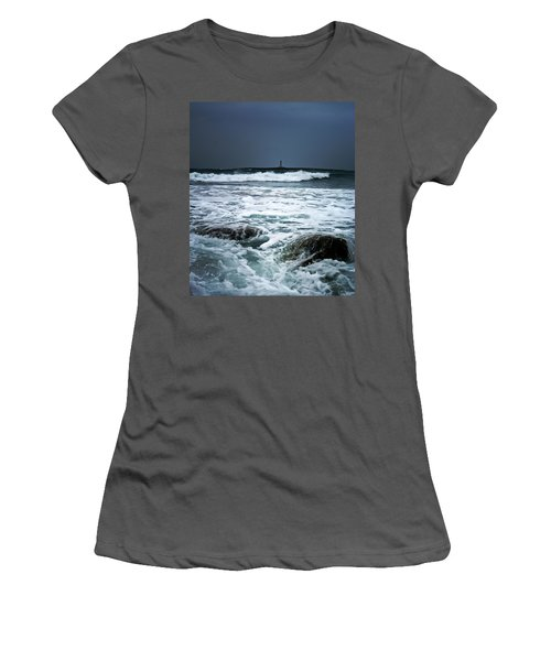 Coastal Storm Women's T-Shirt (Athletic Fit)