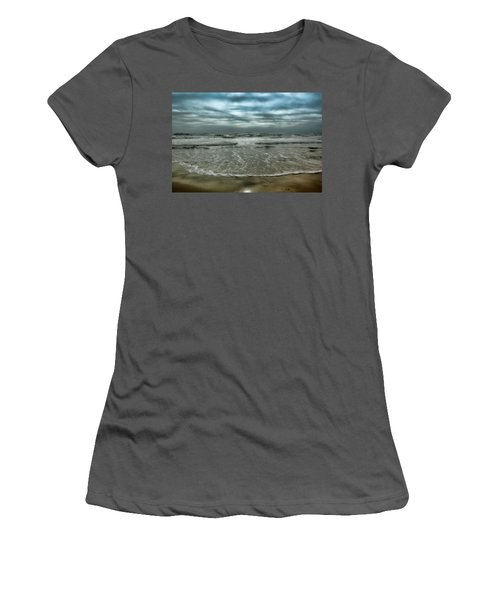 Women's T-Shirt (Junior Cut) featuring the photograph Rough Surf by Ellen Heaverlo