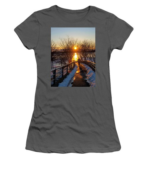 Running In Sunset Women's T-Shirt (Athletic Fit)