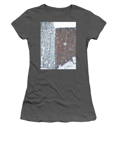 Rust Not Sleeping In The Snow Women's T-Shirt (Athletic Fit)