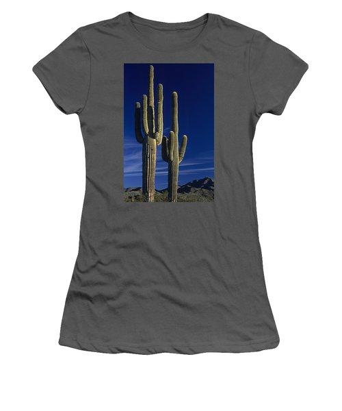 Saguaro Cactus Sunset Arizona State Usa Women's T-Shirt (Athletic Fit)