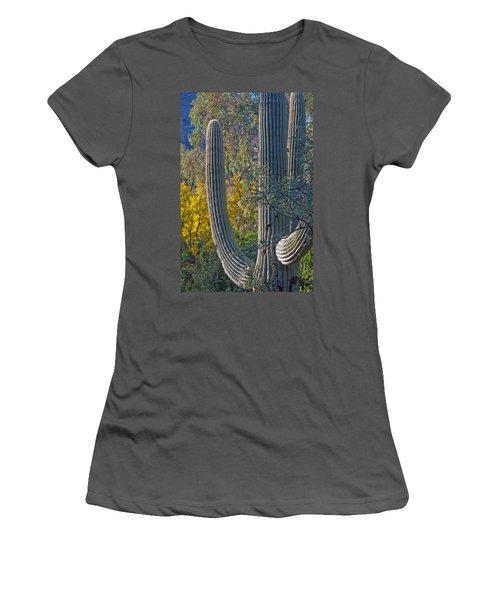 Saguaro Fall Color Women's T-Shirt (Junior Cut) by Tam Ryan