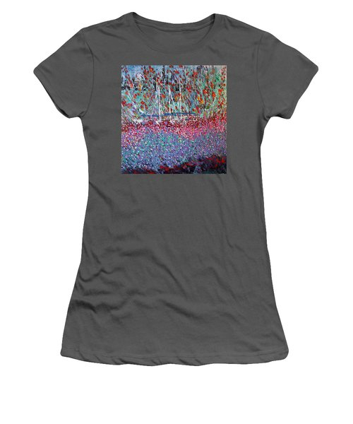 Sailing Among The Flowers Women's T-Shirt (Junior Cut) by George Riney