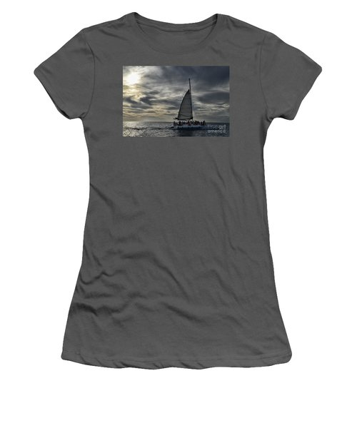 Sailing The Caribbean Women's T-Shirt (Athletic Fit)