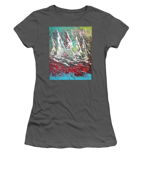 Sailing Together - Sold Women's T-Shirt (Junior Cut) by George Riney