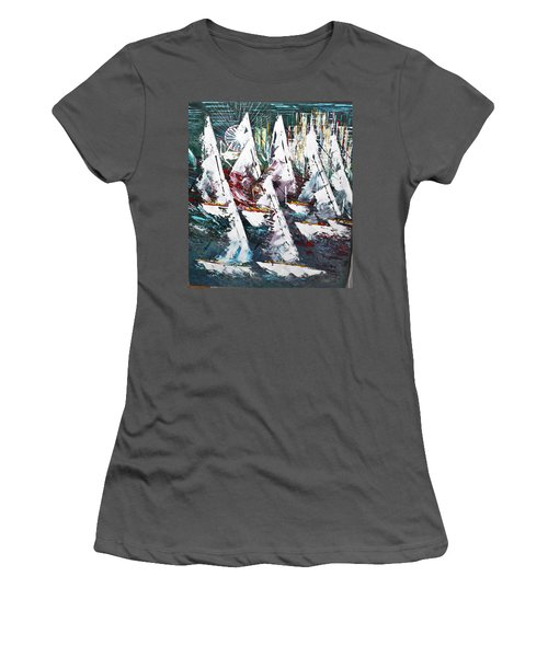 Sailing With Friends - Sold Women's T-Shirt (Junior Cut) by George Riney