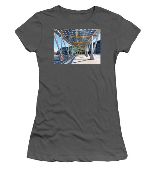 Women's T-Shirt (Junior Cut) featuring the photograph Salt Lake City Police Station - 2 by Ely Arsha