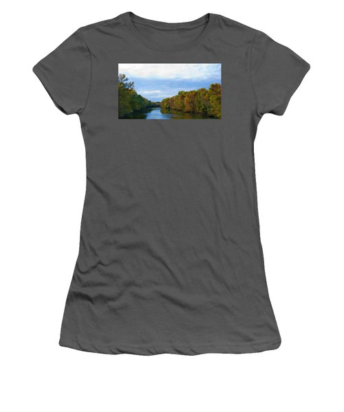 Saluda River In The Fall Women's T-Shirt (Athletic Fit)