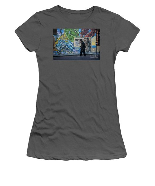 San Francisco Chinatown Street Art Women's T-Shirt (Junior Cut) by Juli Scalzi