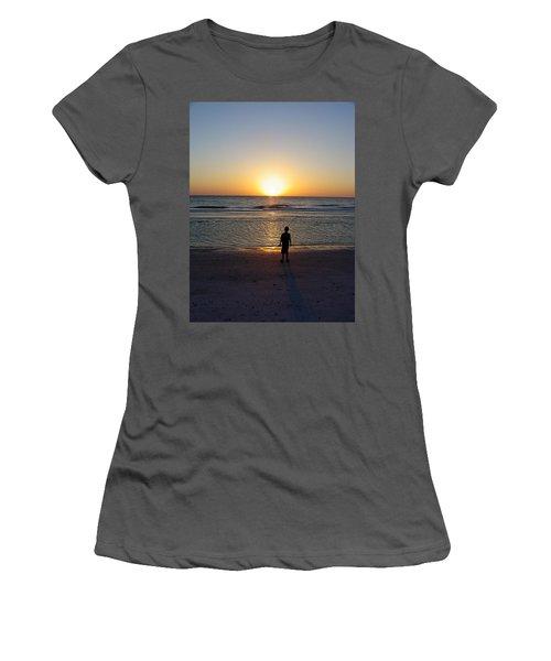 Women's T-Shirt (Junior Cut) featuring the photograph Sand Key Sunset by David Nicholls