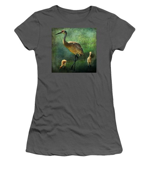 Sandhill And Chicks Women's T-Shirt (Athletic Fit)