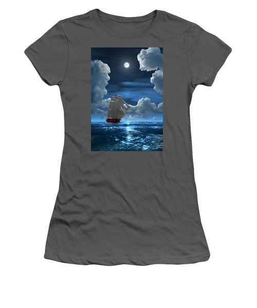 Santisima Trinida In The Moonlight 2 Women's T-Shirt (Athletic Fit)