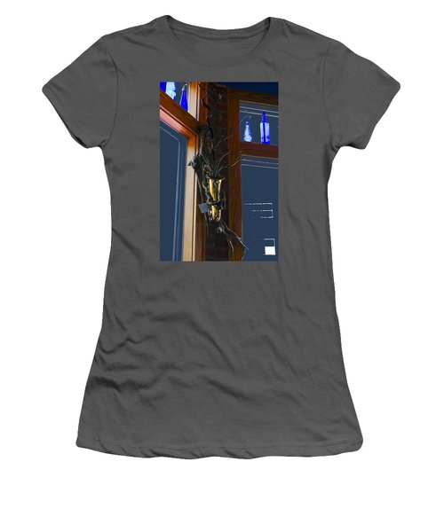 Women's T-Shirt (Junior Cut) featuring the photograph Sax At The Full Moon Cafe by Greg Reed