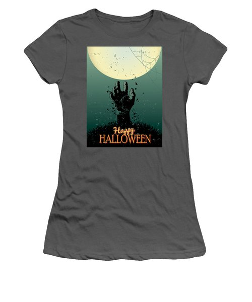 Women's T-Shirt (Junior Cut) featuring the painting Scary Halloween by Gianfranco Weiss