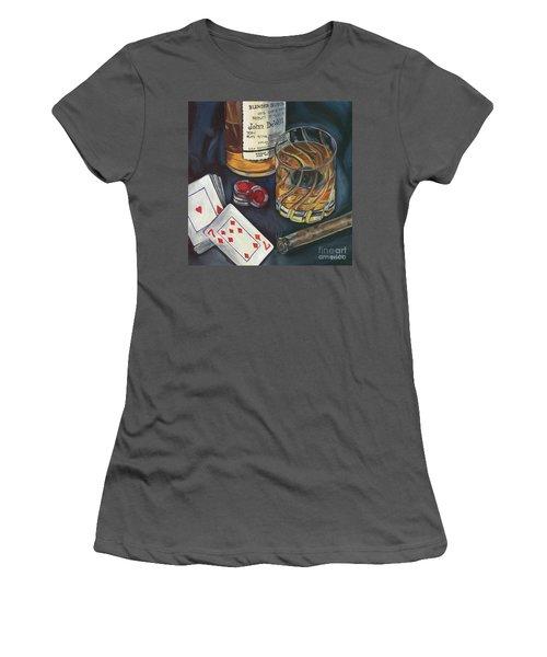 Scotch And Cigars 4 Women's T-Shirt (Junior Cut) by Debbie DeWitt