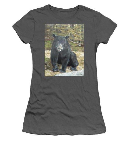 Women's T-Shirt (Junior Cut) featuring the painting Scruffy Again by Jan Dappen