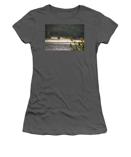 Women's T-Shirt (Junior Cut) featuring the photograph Secluded Cabin by Mary Carol Story