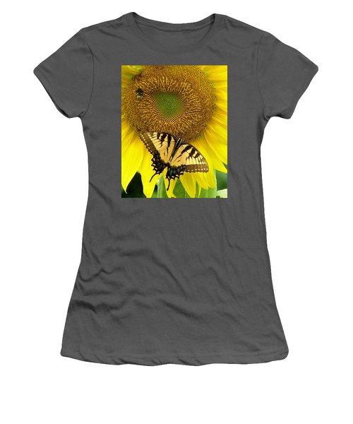 Secret Lives Of Sunflowers Women's T-Shirt (Athletic Fit)