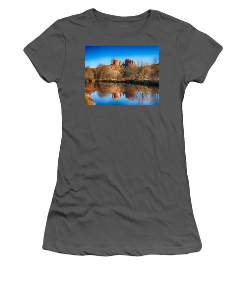 Sedona Winter Reflections Women's T-Shirt (Athletic Fit)