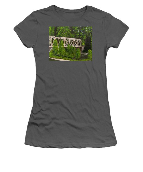 Sewalls Falls Bridge Women's T-Shirt (Athletic Fit)