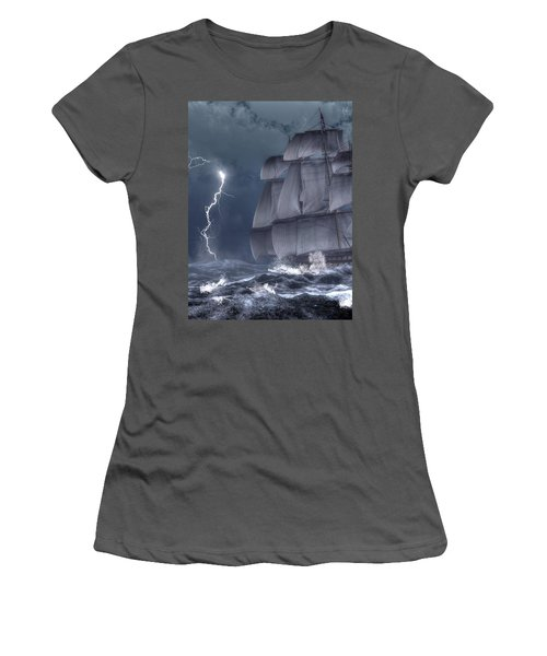 Ship In A Storm Women's T-Shirt (Athletic Fit)