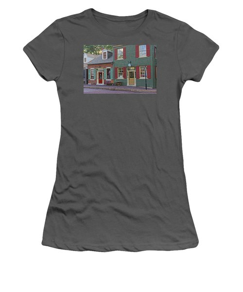 Shops S Main St Charles Mo Dsc00886  Women's T-Shirt (Junior Cut) by Greg Kluempers