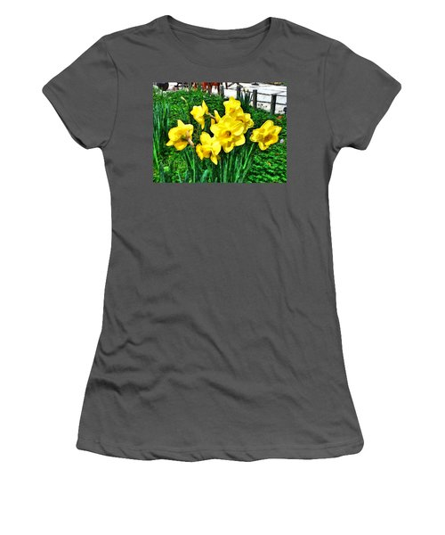 Shy Daffodils  Women's T-Shirt (Athletic Fit)