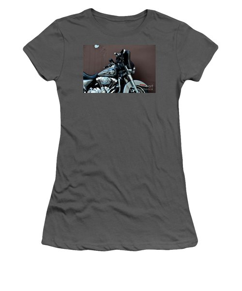Women's T-Shirt (Junior Cut) featuring the photograph Silver Harley Motorcycle by Imran Ahmed