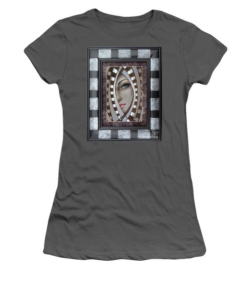 Silver Memories 220414 Framed Women's T-Shirt (Athletic Fit)