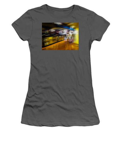 Women's T-Shirt (Junior Cut) featuring the photograph Silver People In A Golden World by Alex Lapidus