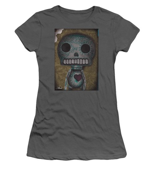 Skelly With A Heart Women's T-Shirt (Junior Cut) by Abril Andrade Griffith