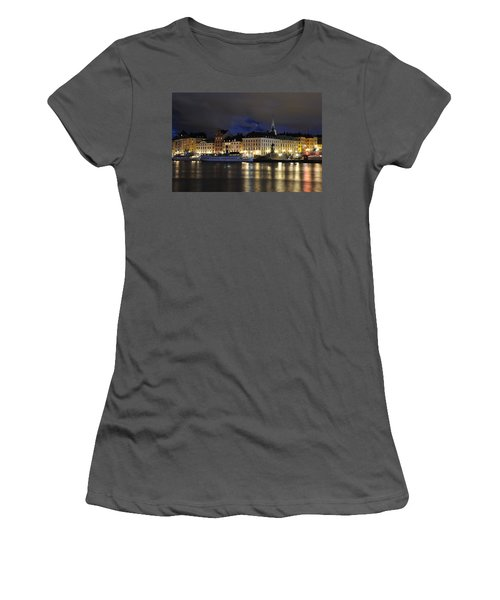 Skeppsbron At Night Women's T-Shirt (Athletic Fit)