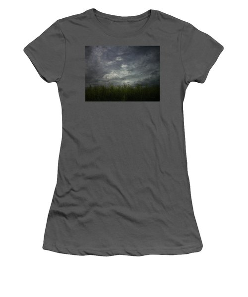 Sky With Cornfield Women's T-Shirt (Athletic Fit)