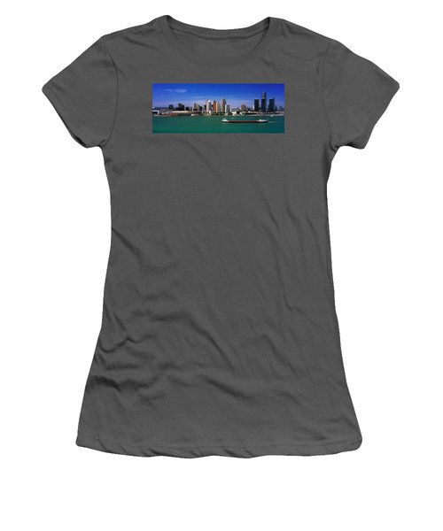 Skylines At The Waterfront, River Women's T-Shirt (Athletic Fit)