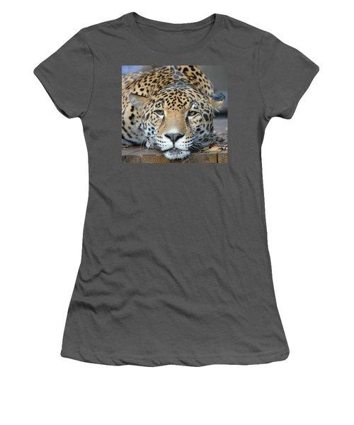 Sleepy Jaguar Women's T-Shirt (Athletic Fit)