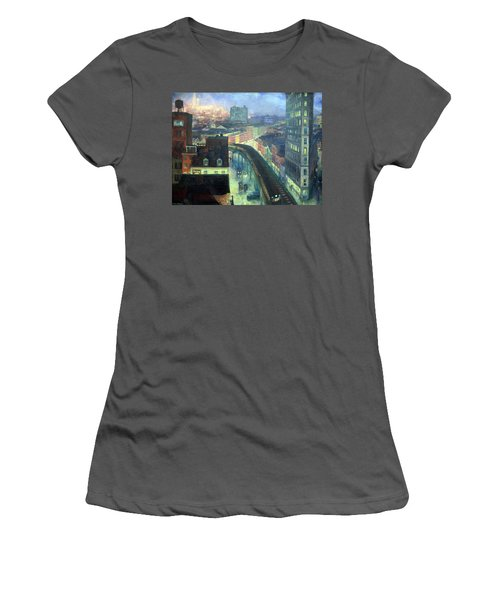 Sloan's The City From Greenwich Village Women's T-Shirt (Athletic Fit)