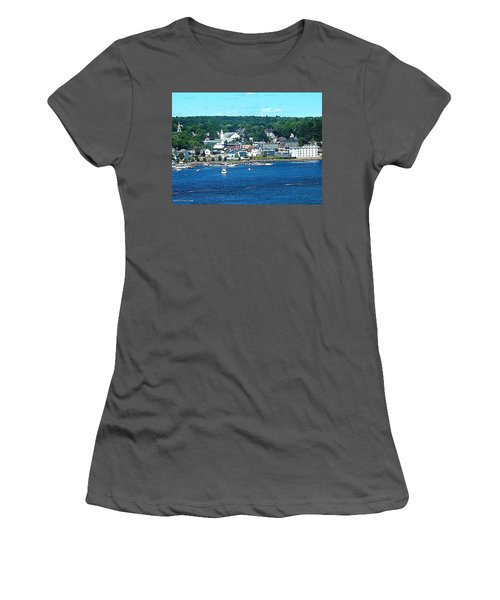 Small Coastal Town America Women's T-Shirt (Athletic Fit)