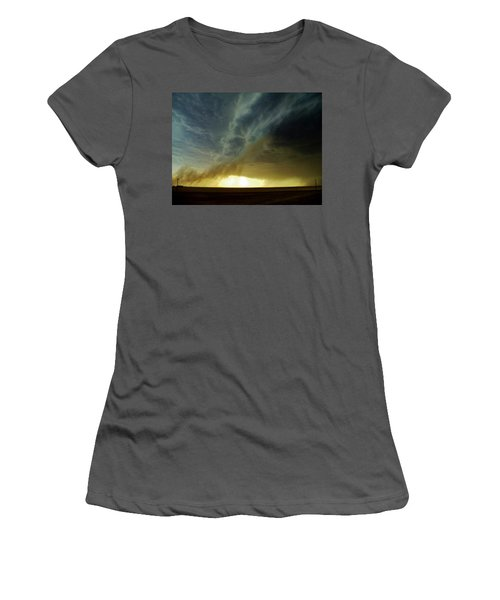 Smoke And The Supercell Women's T-Shirt (Junior Cut) by Ed Sweeney
