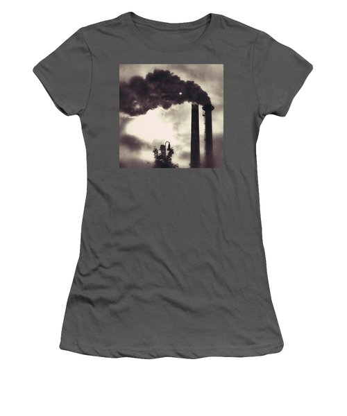 Smoke Stack Women's T-Shirt (Athletic Fit)