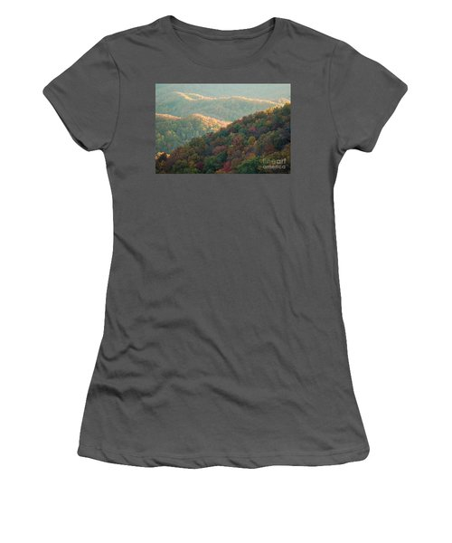 Women's T-Shirt (Junior Cut) featuring the photograph Smoky Mountain View by Patrick Shupert