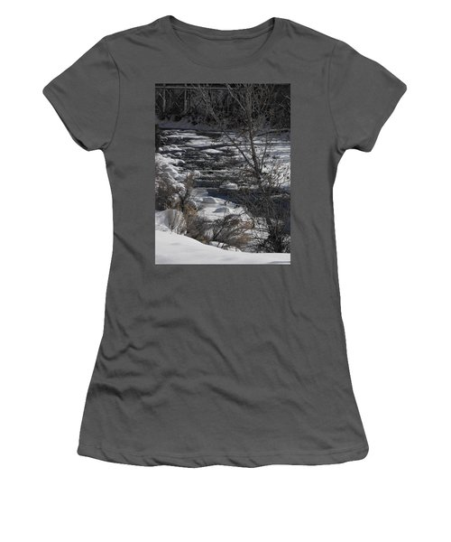 Snow Capped Stream Women's T-Shirt (Athletic Fit)